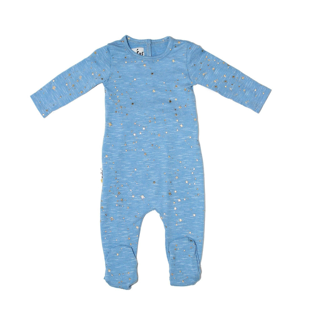 Star Embellished Footie Baby Footies Maniere Accessories Denim 3 Months