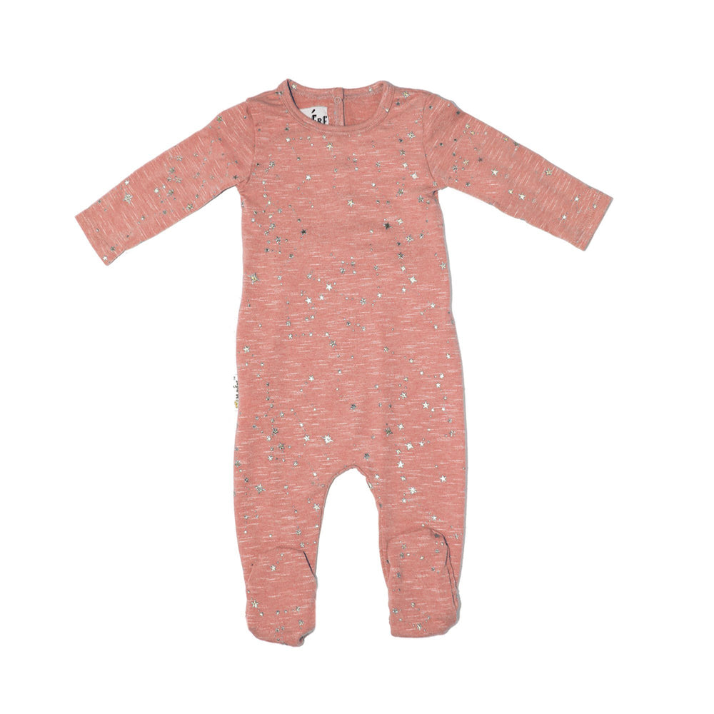 Star Embellished Footie Baby Footies Maniere Accessories Soft Pink 3 Months