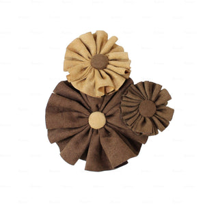 Load image into Gallery viewer, Suede Flower Clusters Hair Clip Hair Clip Manière Brown
