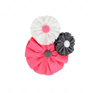 Suede Flower Clusters Hair Clip Hair Clip Manière Pink