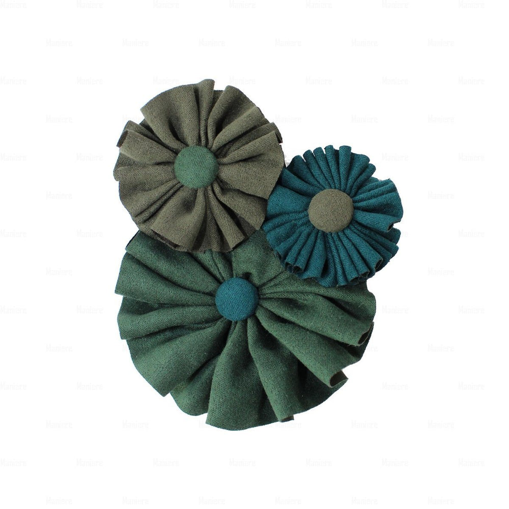 Suede Flower Clusters Hair Clip Hair Clip Manière Green