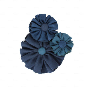 Suede Flower Clusters Hair Clip Hair Clip Manière Navy