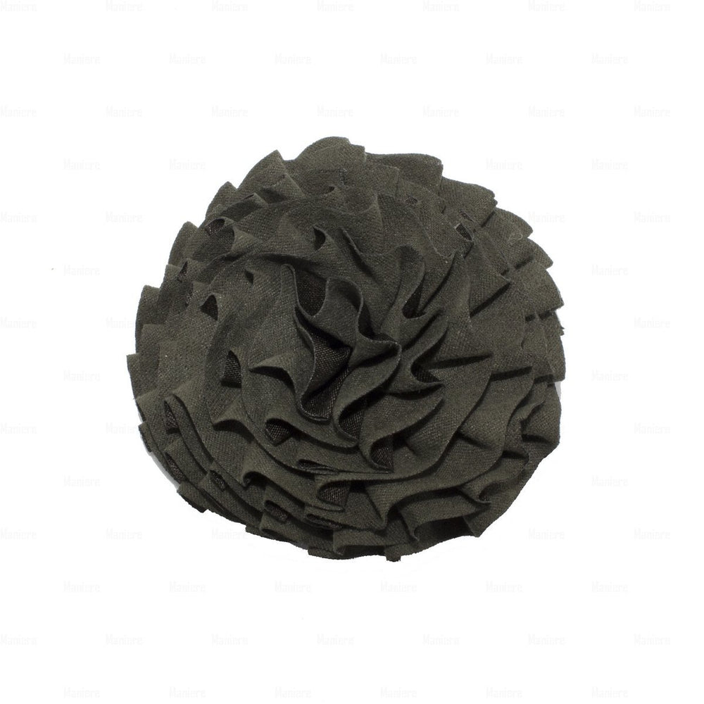 Load image into Gallery viewer, Flower-Puff-Clip Hair Clip Manière Green