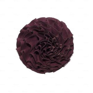 Load image into Gallery viewer, Flower-Puff-Clip Hair Clip Manière Maroon