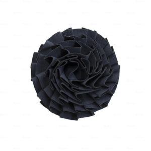 Load image into Gallery viewer, Flower-Puff-Clip Hair Clip Manière Navy
