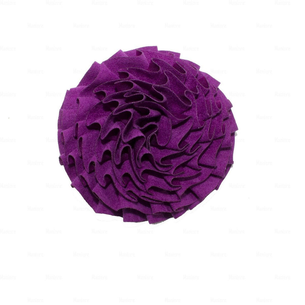 Flower-Puff-Clip Hair Clip Manière Purple