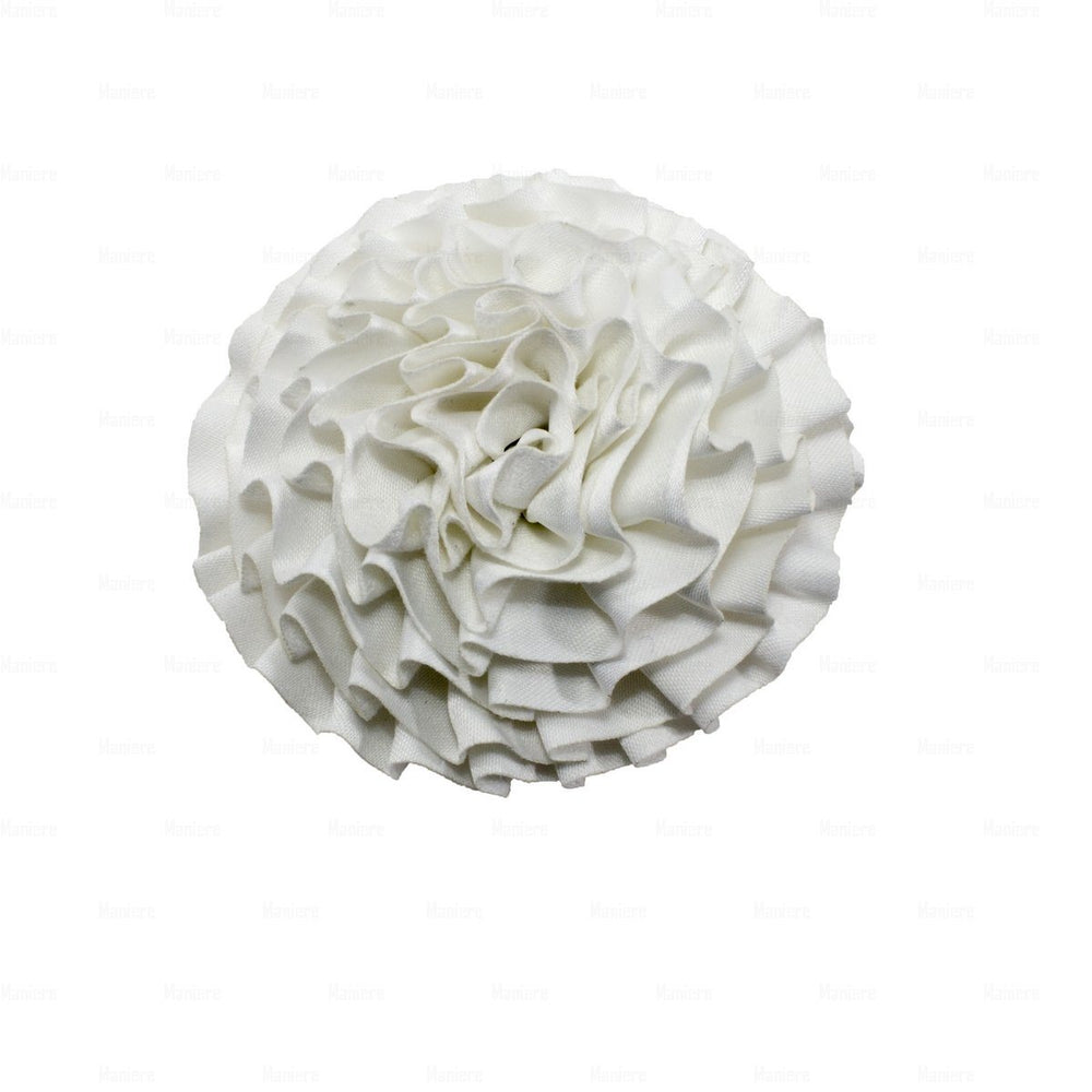 Load image into Gallery viewer, Flower-Puff-Clip Hair Clip Manière White