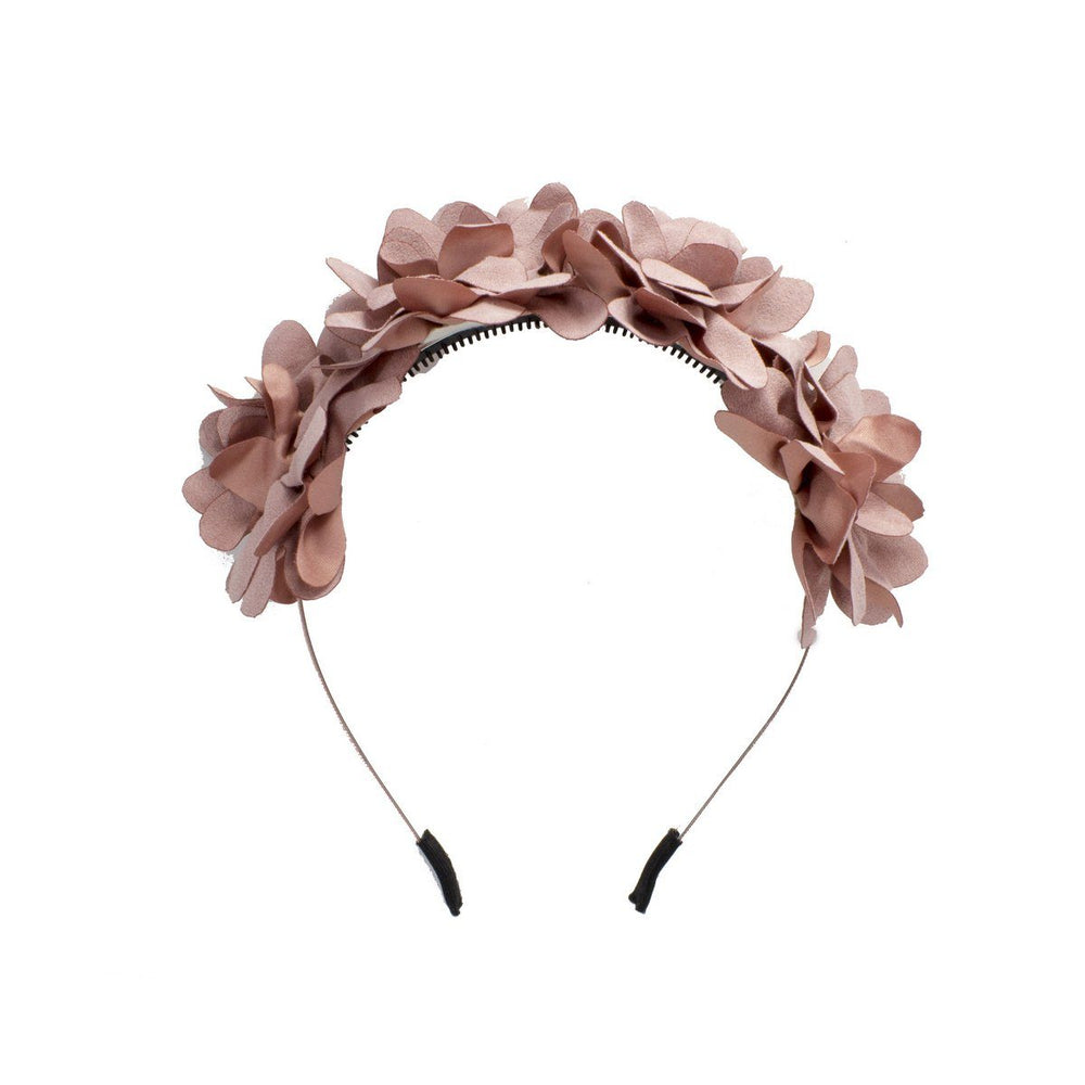 Suede Floral Wreath Headband Manière Dusty Pink