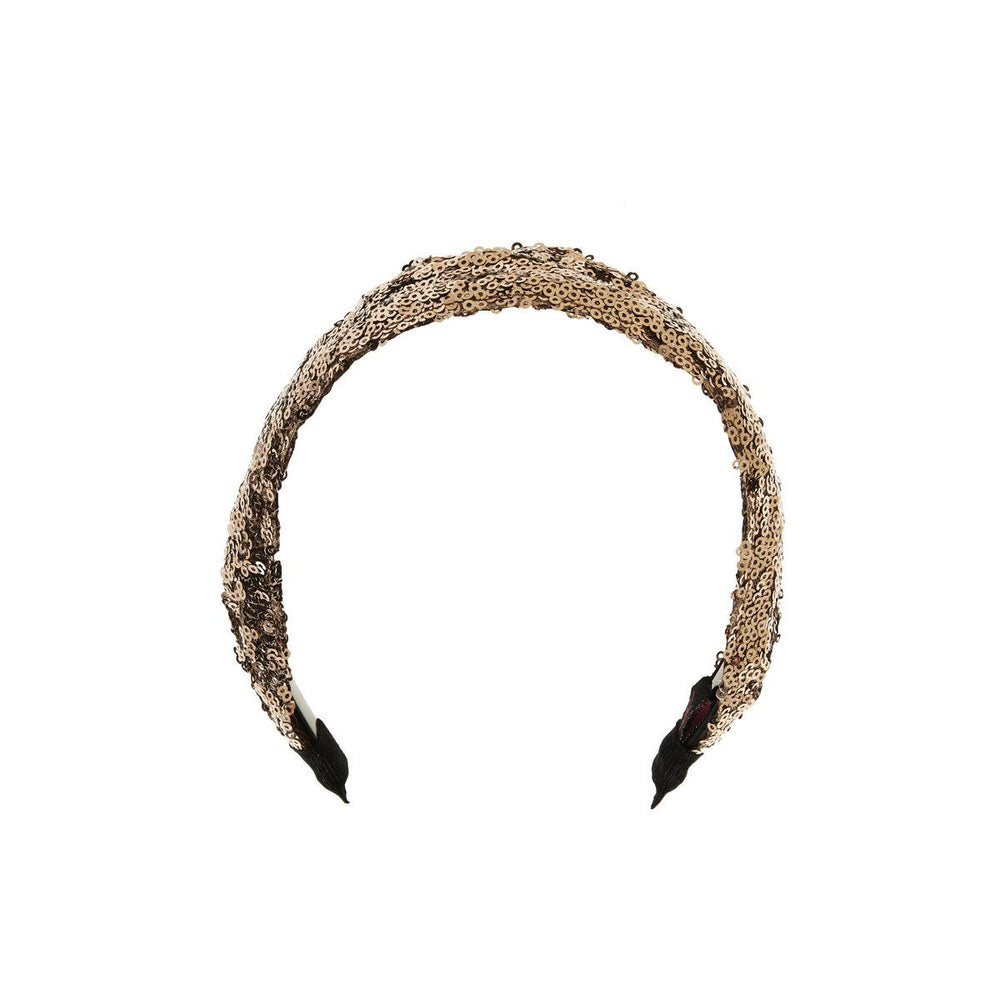 Sequin Hard Band Headband Manière Copper