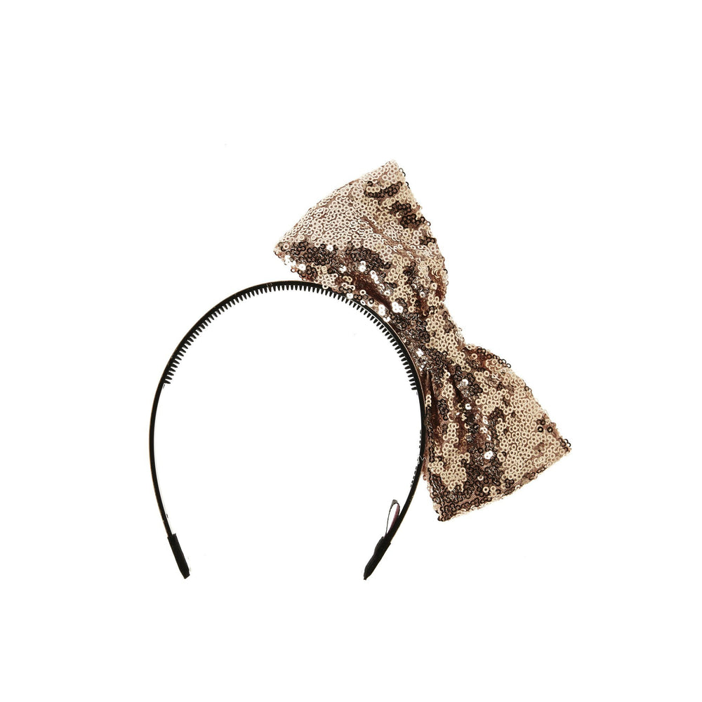 Sequin Side Bow Headband Maniere Accessories