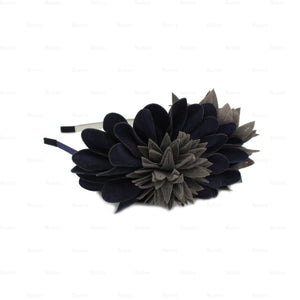 Suede-Two-Tone-Flower-Headband Headband Manière