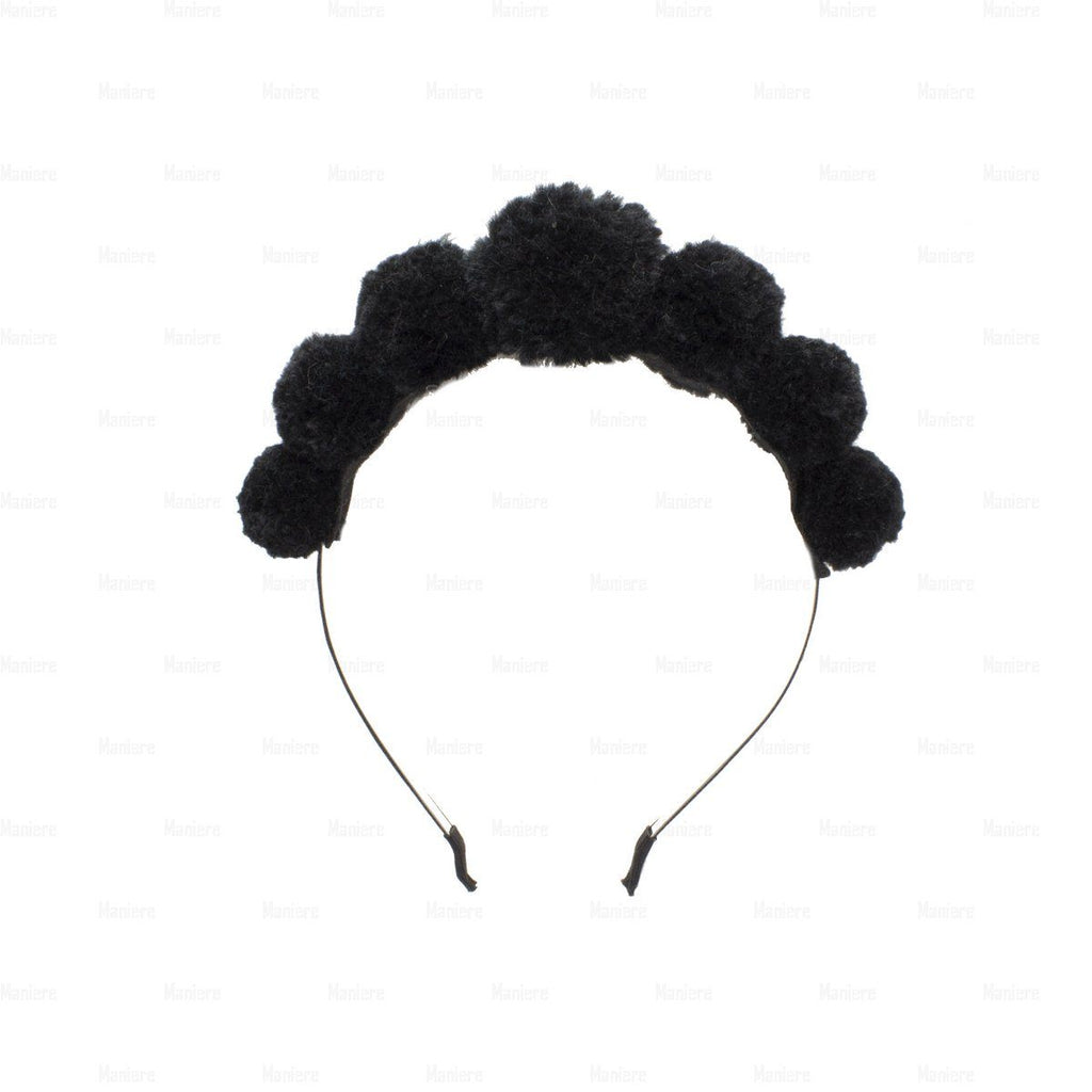 Soft-Yarn-Pops-Headband Headband Manière Black