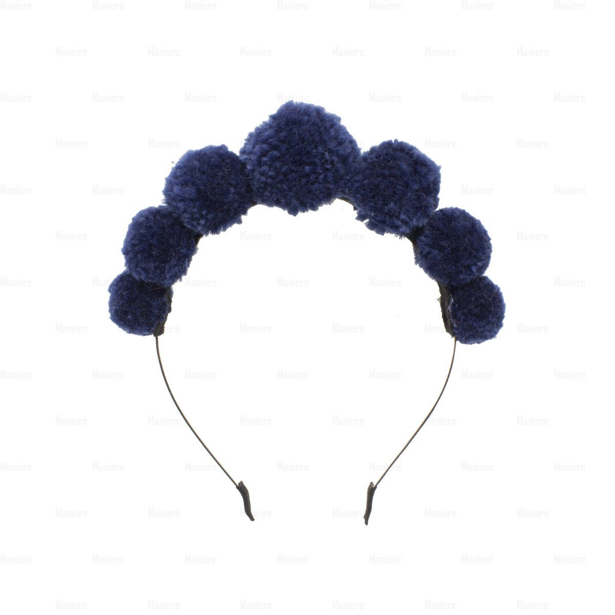 Soft-Yarn-Pops-Headband Headband Manière Blue Night