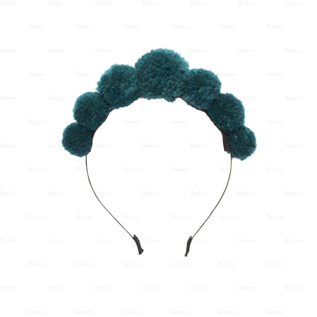 Soft-Yarn-Pops-Headband Headband Manière Green