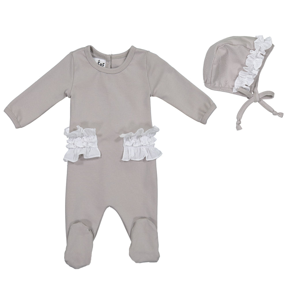 Side Poplin Footie Set