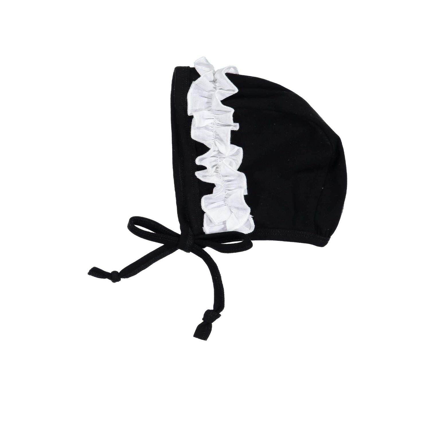 Side Poplin Beanie (no pom) Maniere Accessories Black XS