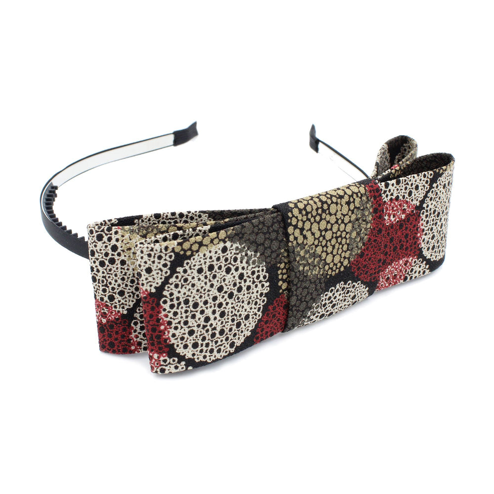 Side Print Bow Headband Manière Black