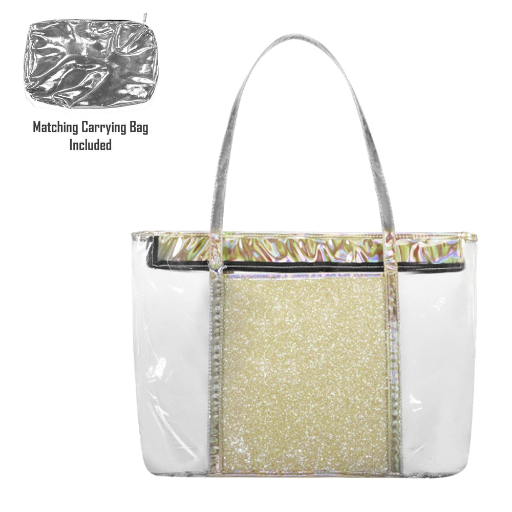 Sparkle Beach Bag Bags Maniere Accessories Silver