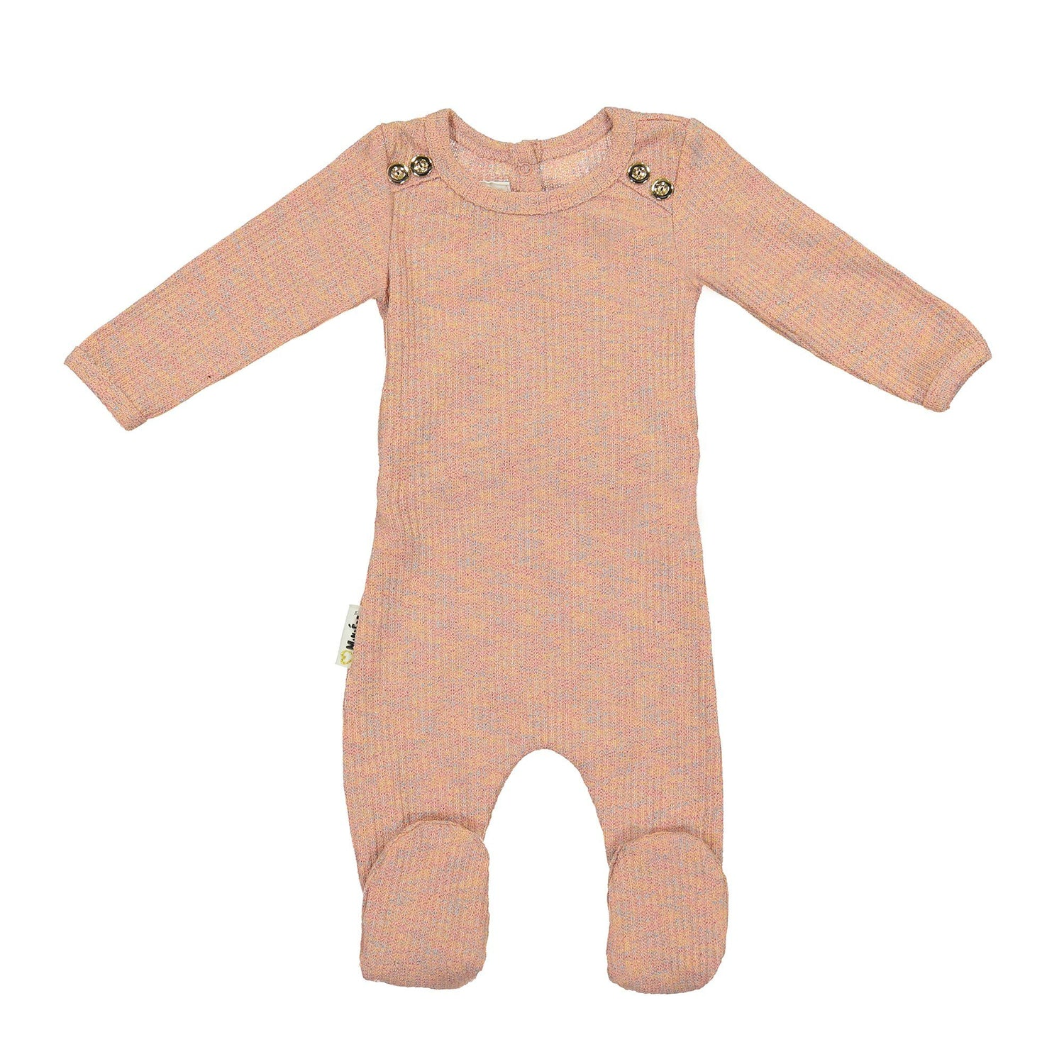 Sparkle Rib Footie Baby Footies Maniere Accessories Mauve 3 Months