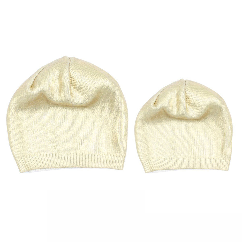 Metallic-Stamp-Beanie Beanie Manière Gold Large (Teen/Woman)