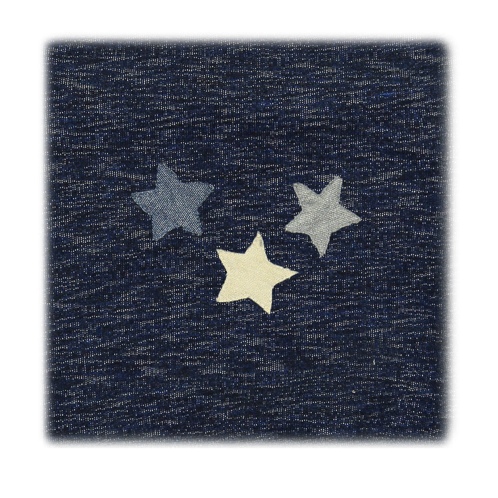 Load image into Gallery viewer, Star Applique Blanket Maniere Accessories Navy
