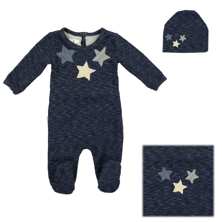 Star Applique Set Maniere Accessories Black 3 Months