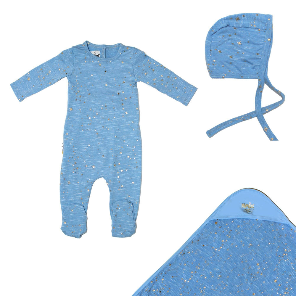 Star Embellished Set Baby Footies Maniere Accessories Denim 3 Months