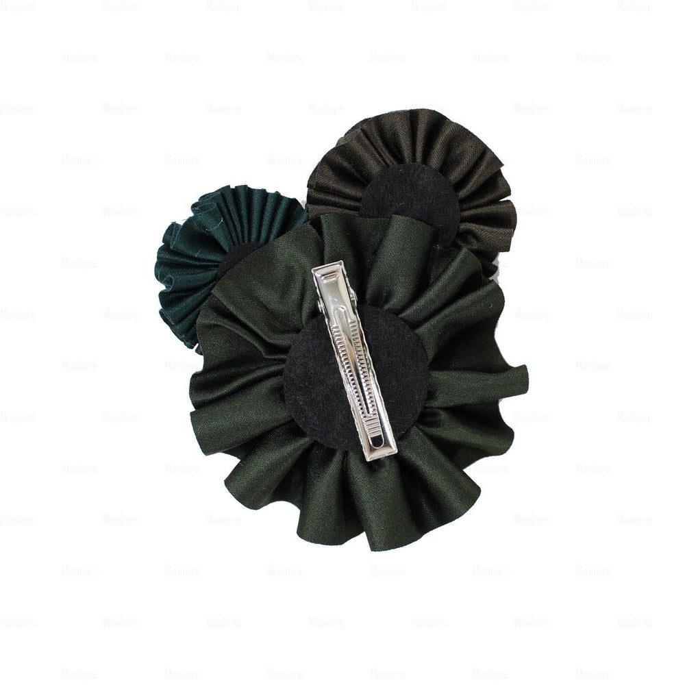 Load image into Gallery viewer, Suede Flower Clusters Hair Clip Hair Clip Manière
