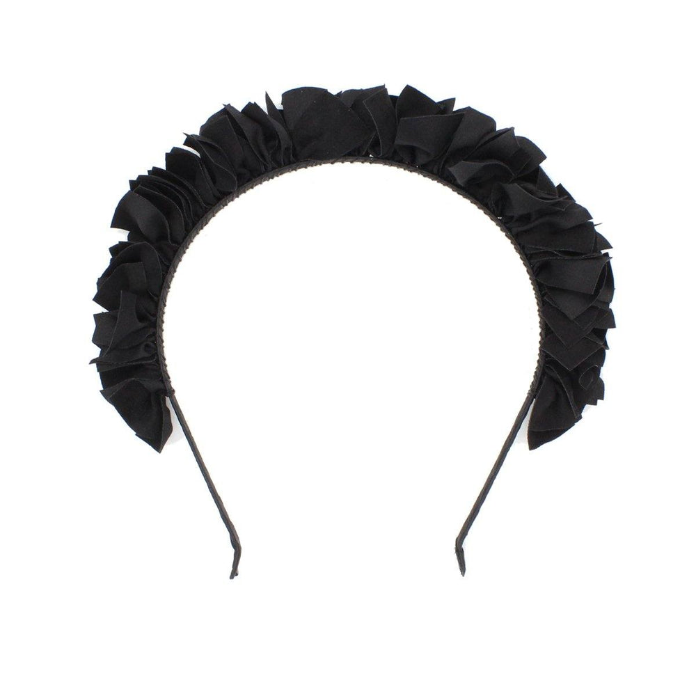 Suede Wreath Headband Headband Manière Black