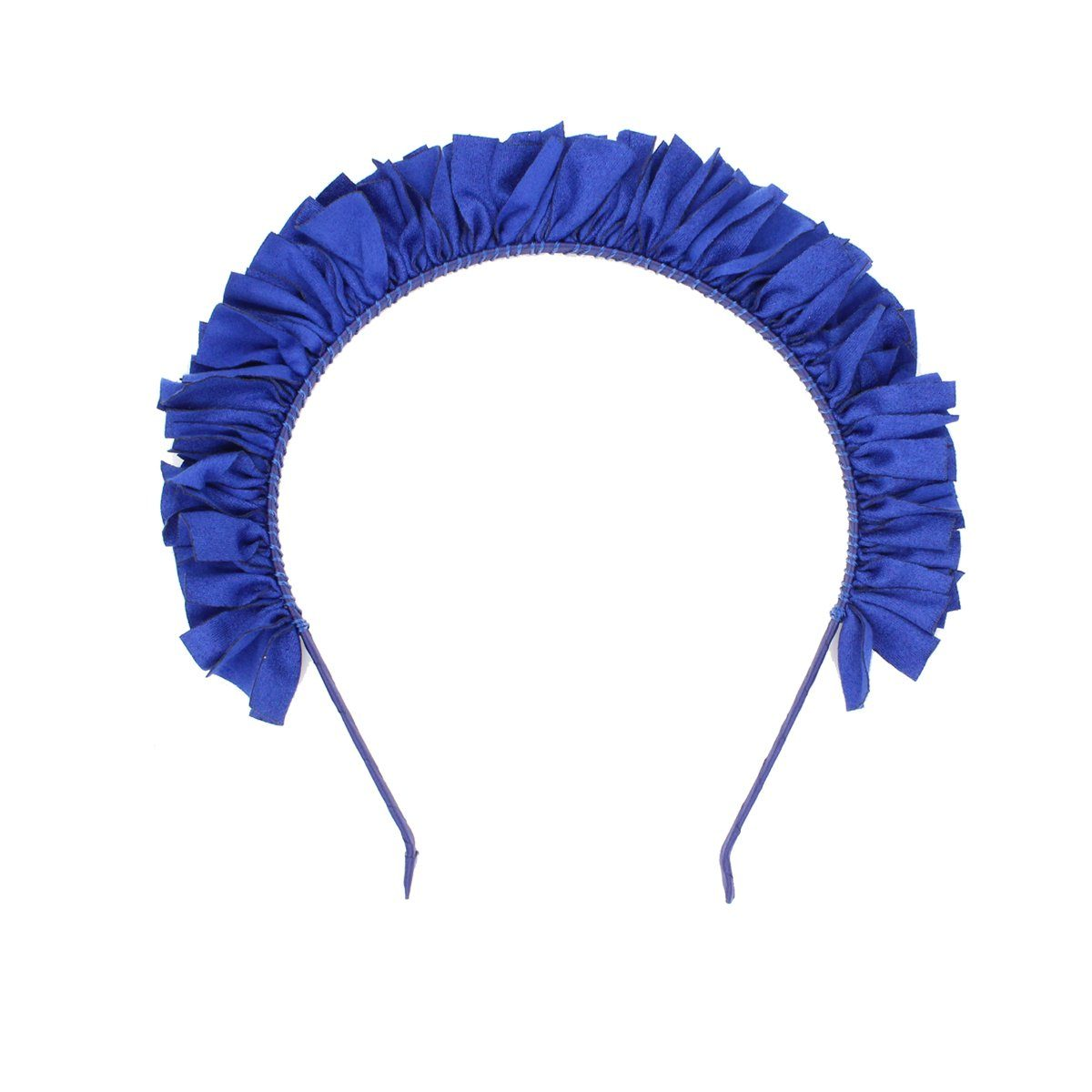 Suede Wreath Headband Headband Manière Royal Blue