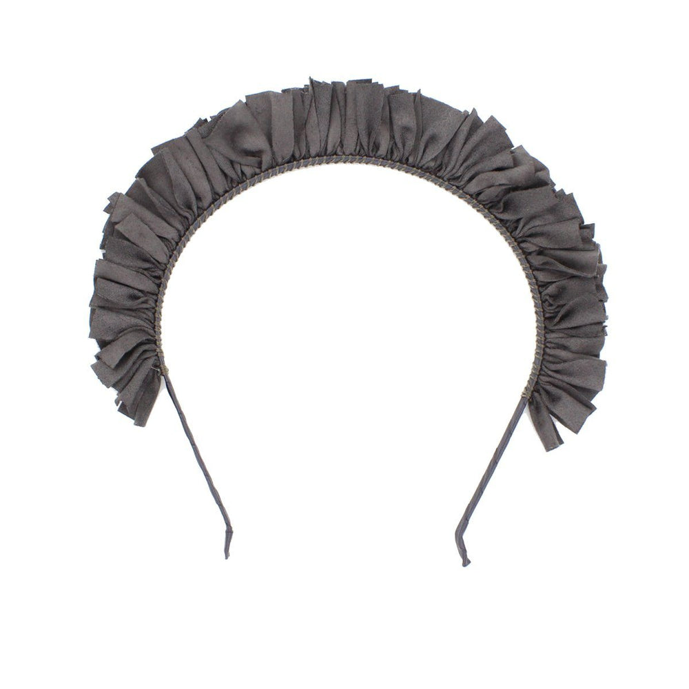 Load image into Gallery viewer, Suede Wreath Headband Headband Manière Grey