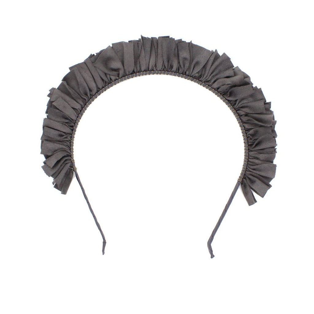 Suede Wreath Headband Headband Manière Grey