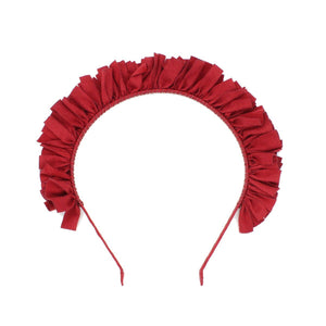 Load image into Gallery viewer, Suede Wreath Headband Headband Manière Maroon