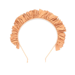 Load image into Gallery viewer, Suede Wreath Headband Headband Manière Salmon