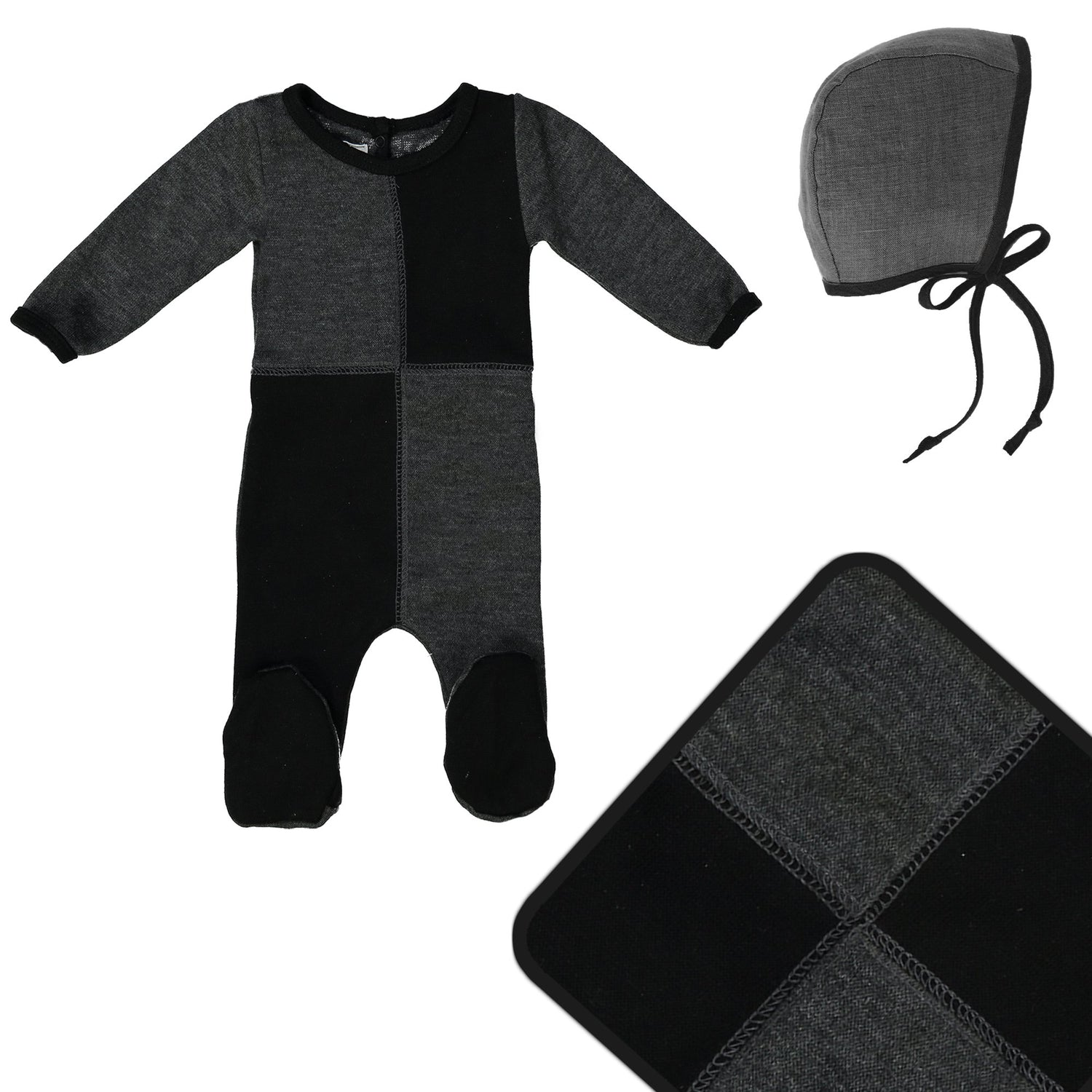 Sweater Block Cashmere Set Maniere Accessories 3 Months Charcoal
