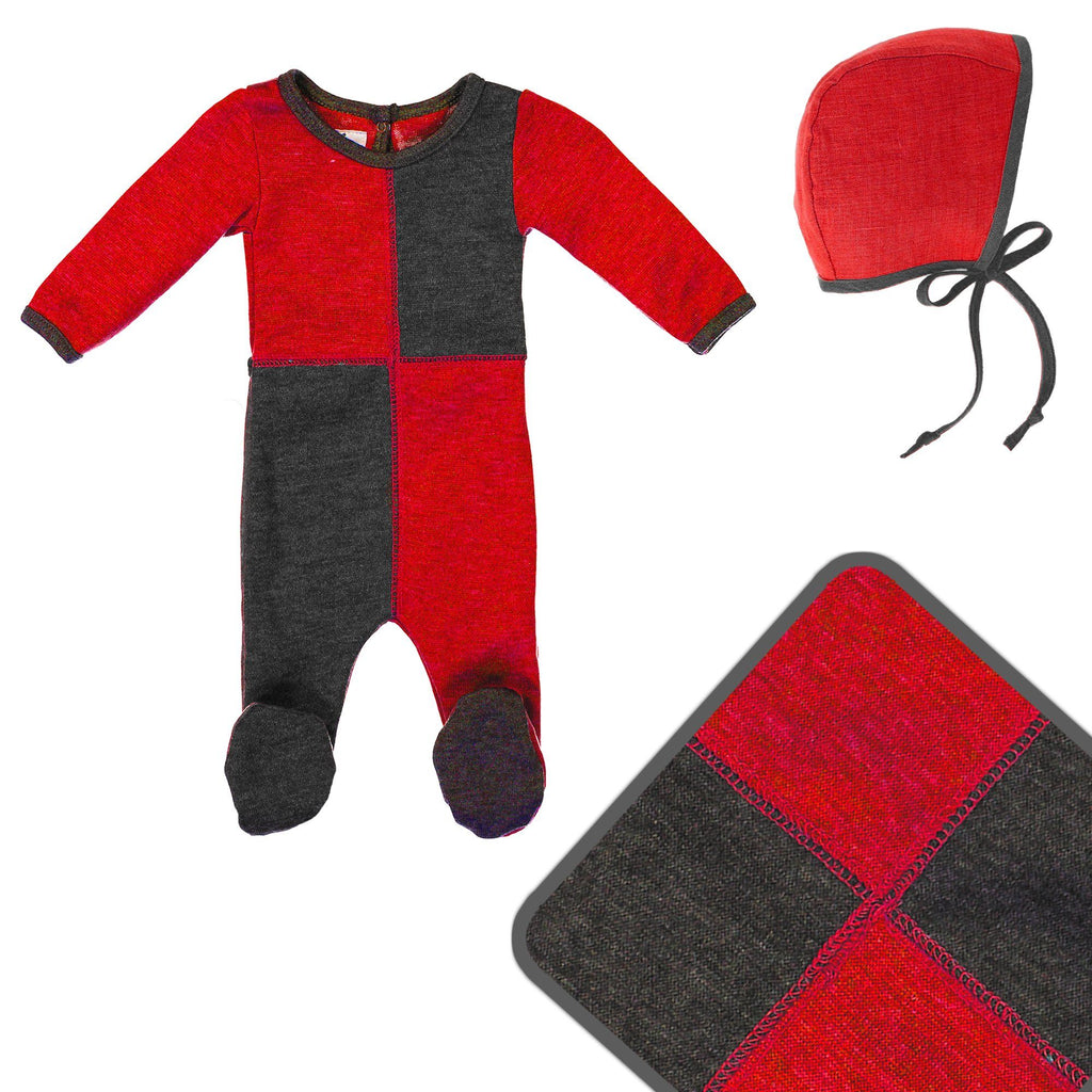 Sweater Block Cashmere Set Maniere Accessories 3 Months Red