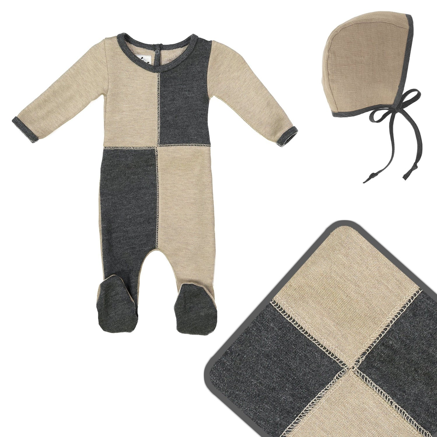 Sweater Block Cashmere Set Maniere Accessories 3 Months Stone