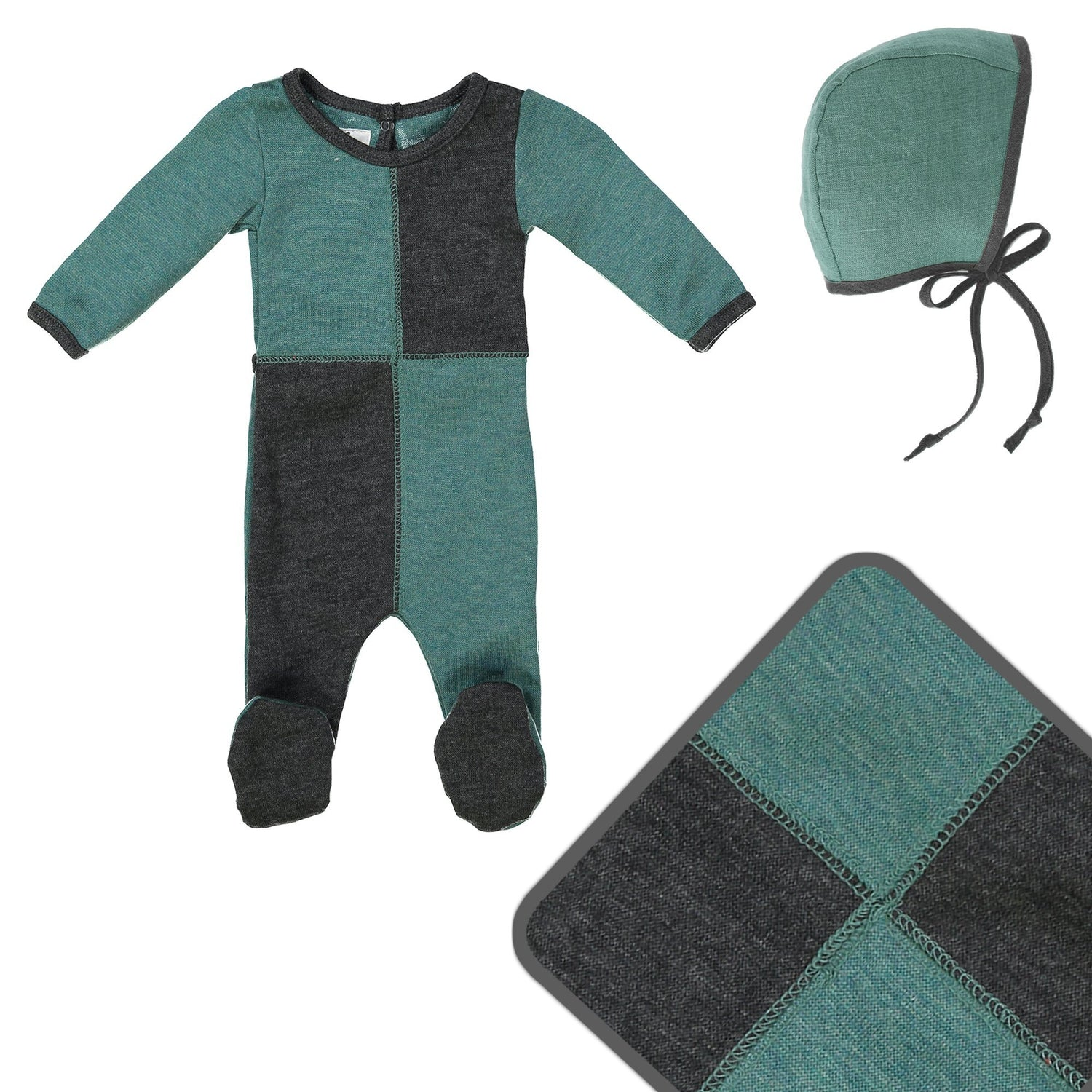 Sweater Block Cashmere Set Maniere Accessories 3 Months Teal