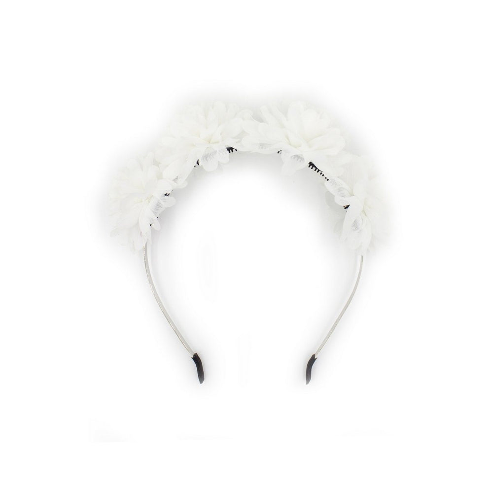 Load image into Gallery viewer, Thistle Flower Headband Headband Manière White