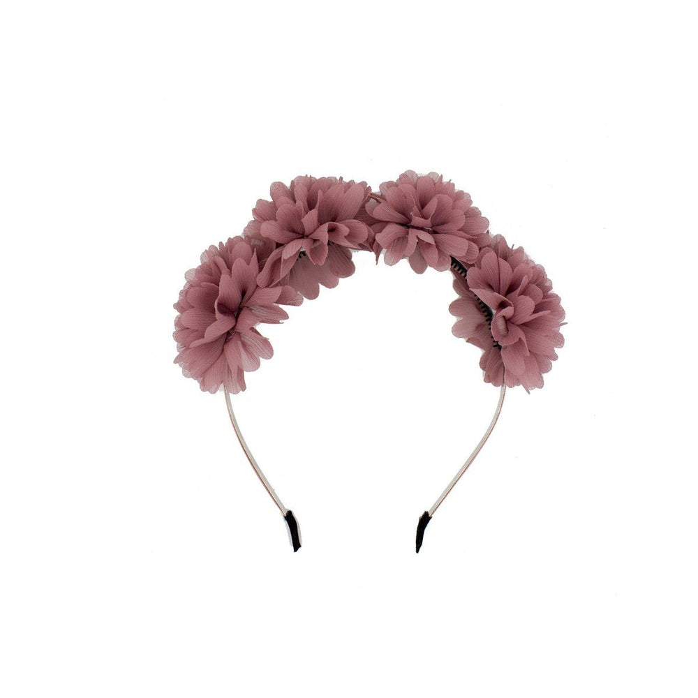 Load image into Gallery viewer, Thistle Flower Headband Headband Manière Wine