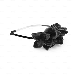 Tufted-Flower-Headband Headband Manière Black