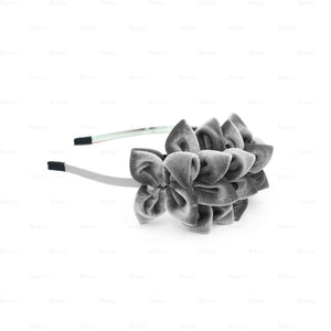 Tufted-Flower-Headband Headband Manière Grey
