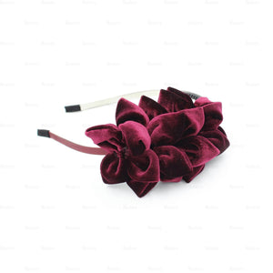 Load image into Gallery viewer, Tufted-Flower-Headband Headband Manière Maroon