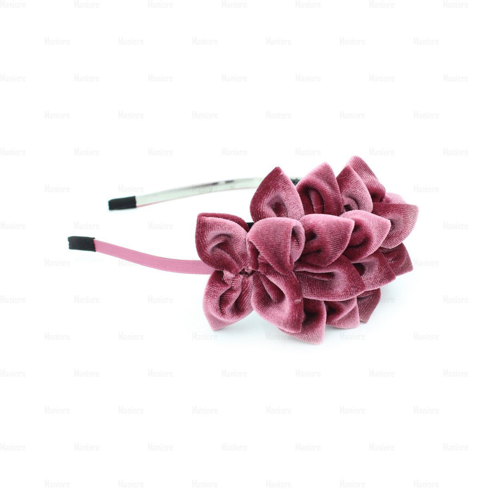 Load image into Gallery viewer, Tufted-Flower-Headband Headband Manière Mauve