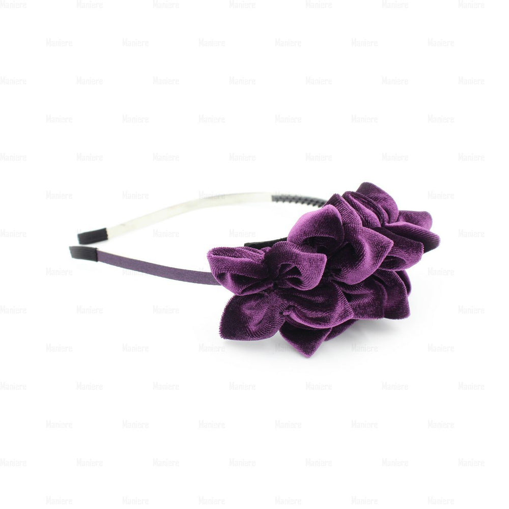 Tufted-Flower-Headband Headband Manière Purple