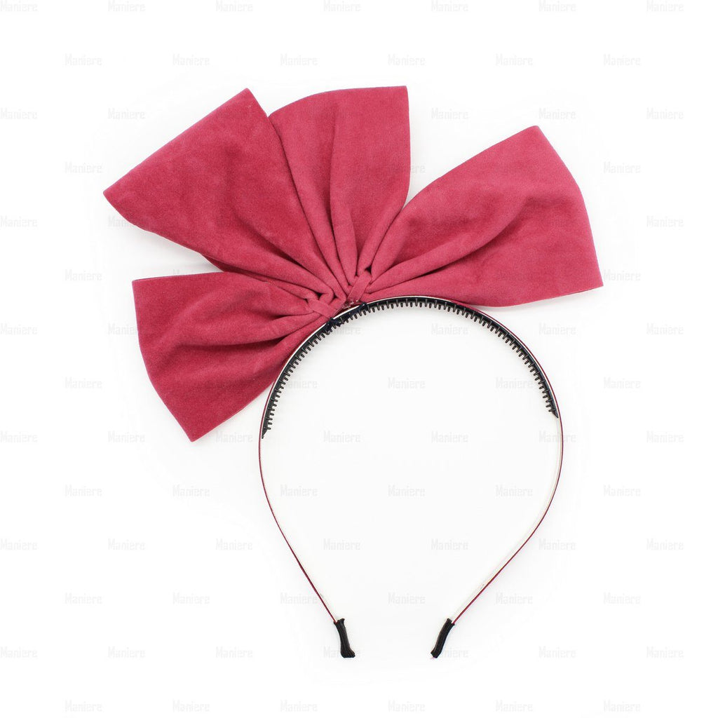Two-Half-Suede-Bow