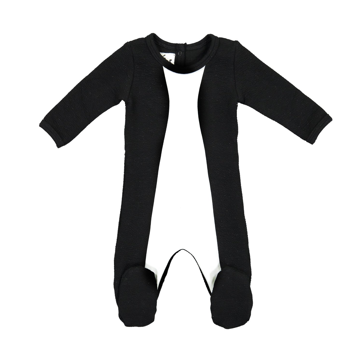 Texture Mix Footie Maniere Accessories Black 3 Months