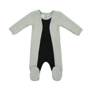 Load image into Gallery viewer, Texture Mix Footie Maniere Accessories Grey 3 Months