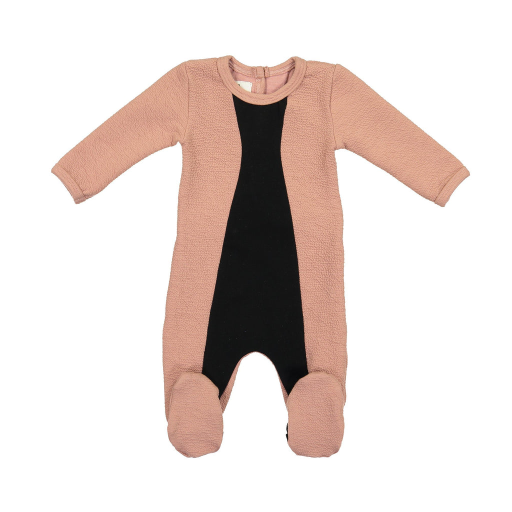 Texture Mix Footie Maniere Accessories Mauve 3 Months