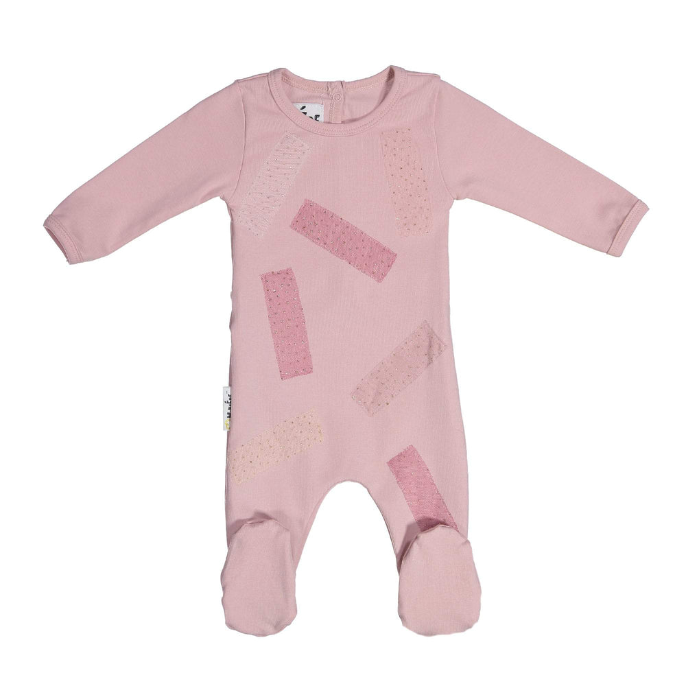Load image into Gallery viewer, Tulle Patch Footie Maniere Accessories Mauve 3 Month